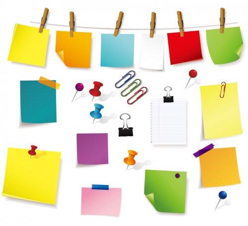 色々な形の付箋 Fine Sticky Notes Paper イラスト素材 ハマる 職
