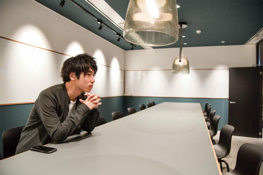アナグラム株式会社の会議室